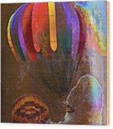 Balloon Racing Wood Print