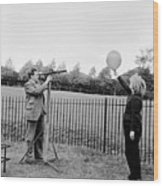 Balloon Viewing Wood Print by Harry Kerr