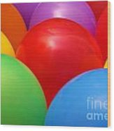Balloons Background Wood Print