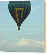 Balloons In Blue Skies  Wood Print