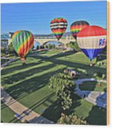 Balloons In Coolidge Park Wood Print