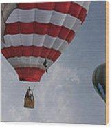 Balloons Over Readington Wood Print