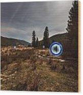 Balls Of Light In A Field Wood Print