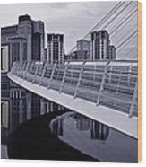 Baltic And Gateshead Millennium Bridge Wood Print