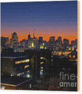 Baltimore At Sunset Wood Print