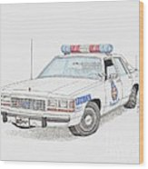 Baltimore County Police Car Wood Print by Calvert Koerber