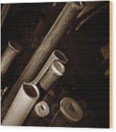 Bamboo Poles 1 Wood Print