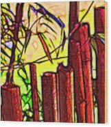 Bamboo Wind Chimes Wood Print