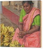 Banana Seller Wood Print