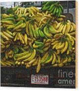 Bananas For Sale  Wood Print