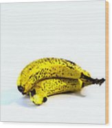 Banannas About To Turn Wood Print