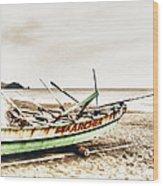Banca Boat Wood Print