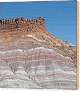 Banded Sandstone Rock Wood Print
