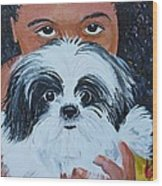 Bandit And Me Wood Print by Peggy Patti