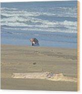 Bandon Oregon Beach Comber Prints Ocean Coastal Wood Print