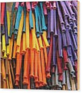Bands Of Color Wood Print
