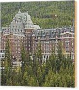 Banff Hotel 1684 Wood Print