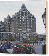 Banff Springs Hotel In The Canadian Rocky Mountains Wood Print