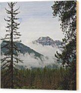 Banff View Wood Print