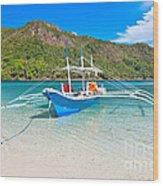 Bangka Boat Wood Print