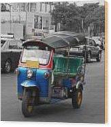 Bangkok Tuk Tuk Wood Print