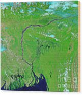 Bangladesh Wood Print by Nasa