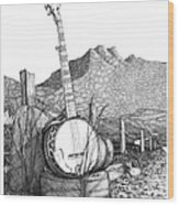Banjo 2 Wood Print