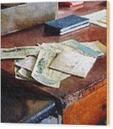 Bank Checks Dated 1923 Wood Print