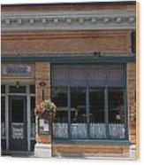 Bank Now Restaurant Wood Print