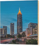 Bank Of America Plaza Atlanta Wood Print