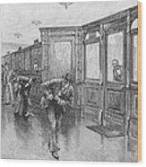 Bank Snatcher, 1890 Wood Print