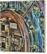Bank Vault Door Wood Print