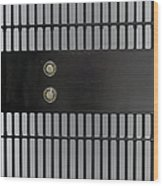 Bank Vault Gate Wood Print