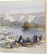 Banks Of The Jordan, 1839, Lithograph Wood Print