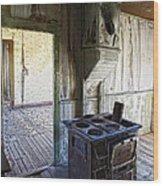 Bannack Ghost Town Kitchen Stove 2 Wood Print