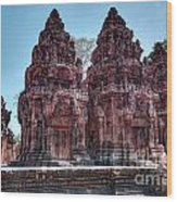 Banteay Srei Temple Central Towers  Wood Print
