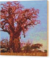 Baobab Tree Wood Print