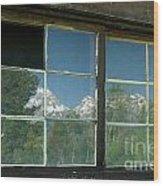 Bar B C Ranch Reflection Wood Print