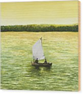 Bar Harbor Sailboat Wood Print