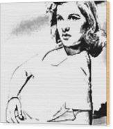 Barbara Bel Geddes 001 Wood Print