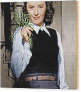 Barbara Stanwyck, Ca. 1947 Wood Print