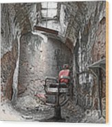 Barber - Chair - Eastern State Penitentiary Wood Print