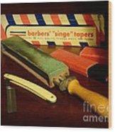 Barber - Keep The Razor Sharp Wood Print