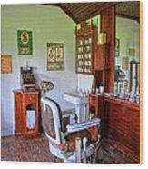 Barber Shop 2 Wood Print