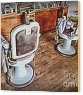 Barber - The Barber Shop 2 Wood Print by Paul Ward