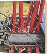Barbwire Engine Wood Print
