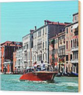 Barca Di Venezia Wood Print