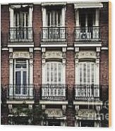 Barcelona Balconies Wood Print