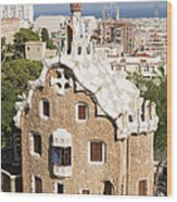 Barcelona Parc Guell Wood Print