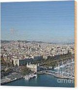 Barcelona View 2 Wood Print